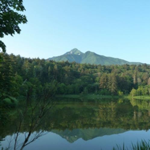 姫沼の逆さ富士