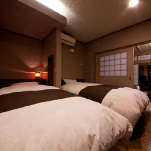 《竹》ベッド客室・半露天風呂付き