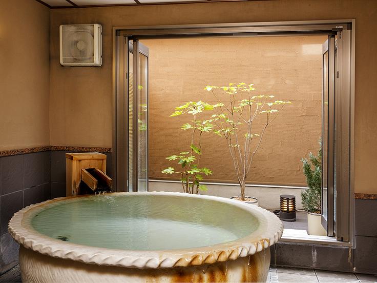 >【温泉貸切風呂/稀石の癒】陶器の温もり ※45分3100円/要予約