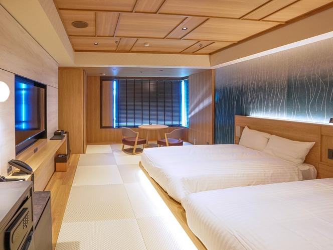 >【レイクビュー 8~9F/スタイリッシュ和ツイン】お部屋の一例 2020年12月26日新装オープン