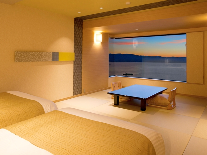>【コンフォートフロア】スタイリッシュ・ベッド和室/夕景