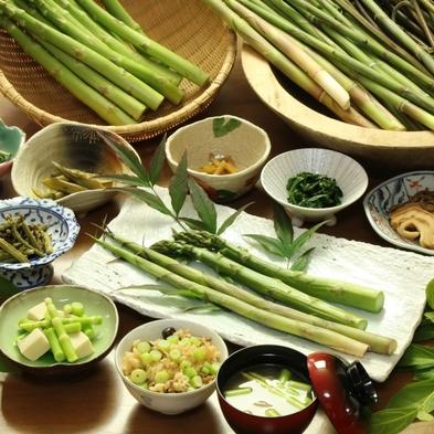 【期間限定】自然の恵み♪北信州の旬な味<根曲がり竹><山菜>料理を味わう〜1泊2食付