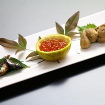 地元の食材を使った♪信州の美味しい創作料理が並びます!(前菜 3種)