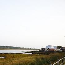 *宿周辺/風蓮湖は根室市と別海町にまたがる国内最大級のハクチョウの飛来地です。