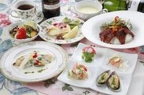 【ディナー】季節の食材を盛り込んだディナーはお客さまの声5ッ☆