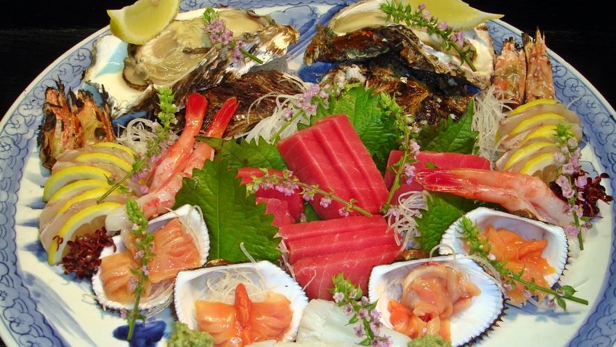 *【料理一例】新鮮な海の幸をお造りでどうぞ!