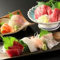 ■選べる主菜料理「お造り3種」