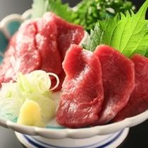 ■【夕食】「選べるお造り」馬刺し