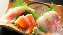 【夕食】「選べるお造り」清流魚のお造り