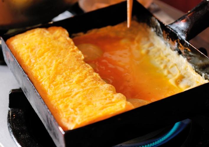 【朝食】アツアツの玉子焼きをどうぞ