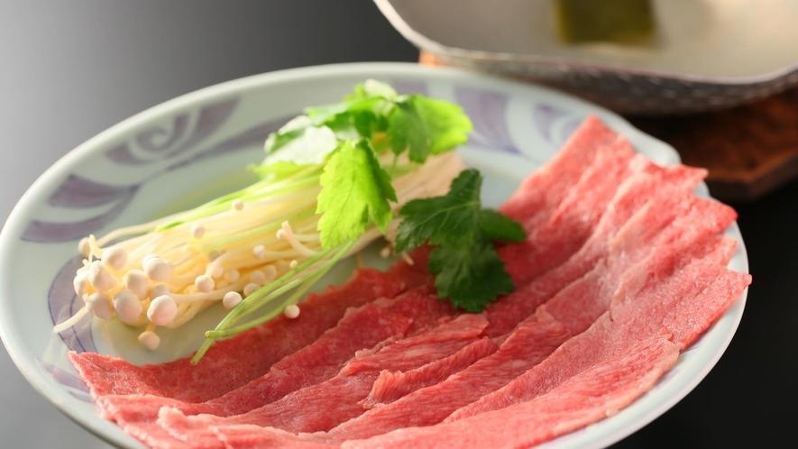 【夕食】「選べる台の物」信州牛のしゃぶしゃぶ