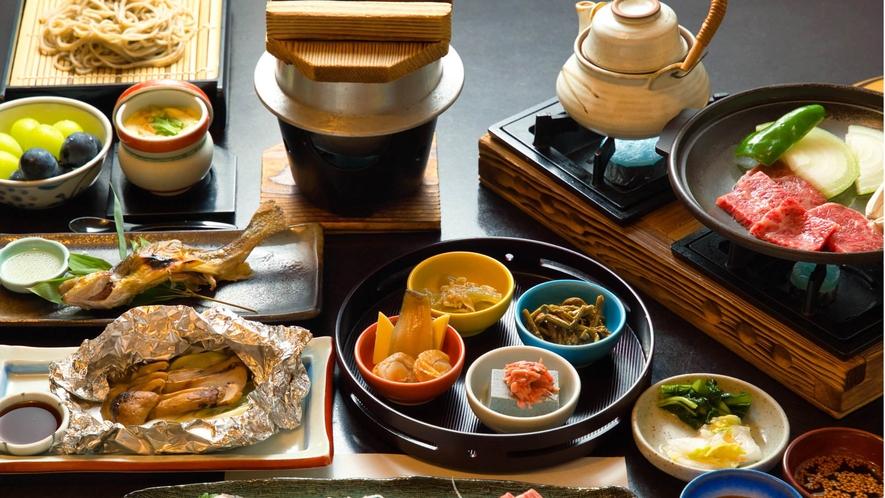 【夕食】秋限定 松茸コース一例