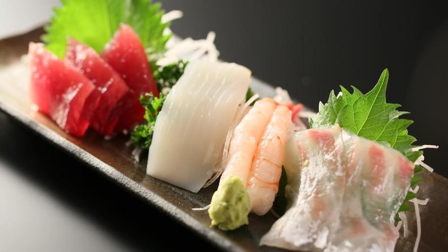 【夕食】「選べるお造り」海のお刺身盛合わせ