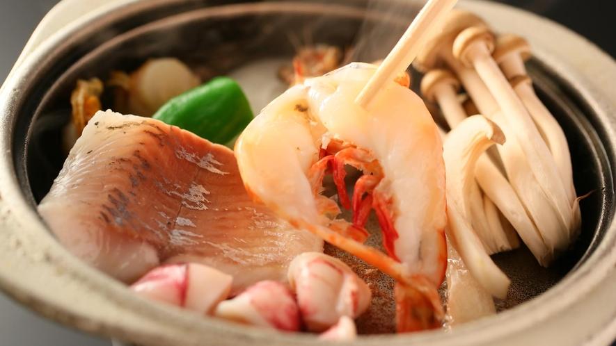 【夕食】「選べる台の物」海鮮陶板焼き