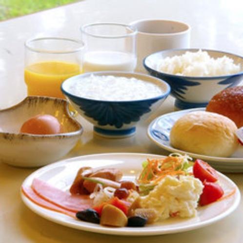 朝食にプラス♪バイキング