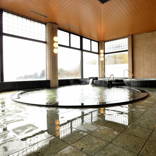 〔大浴場〕軟水処理をした肌に優しいお湯でゆったりとおくつろぎください。