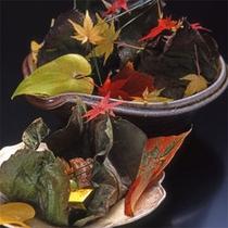 秋の料理一例