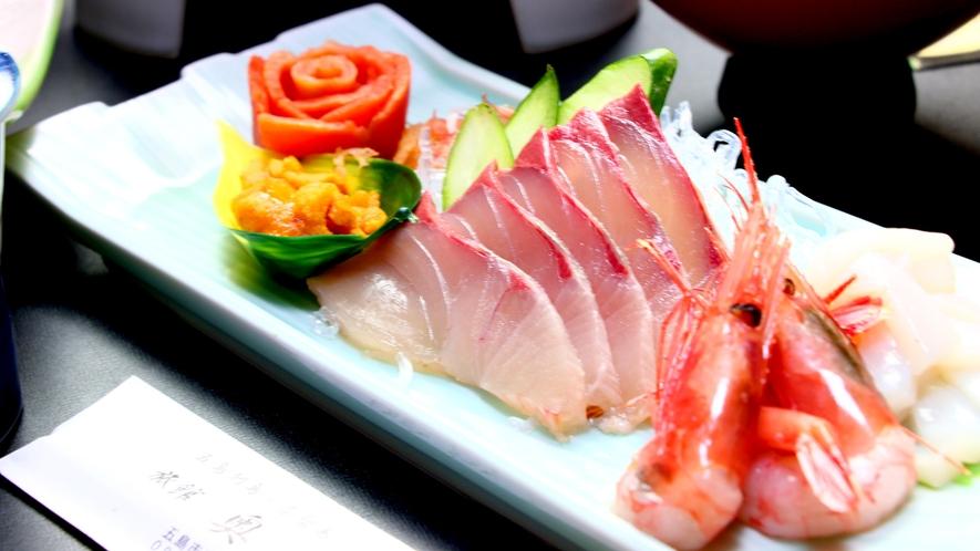 松コース一例 朝獲れ鮮魚のお刺身