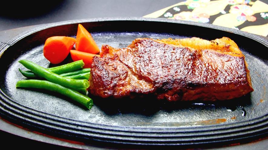 松コース一例 黒毛和牛のステーキ