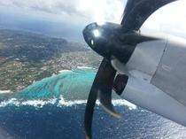 上空からのヨロン島