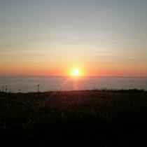 ◆えりも岬からの夕日