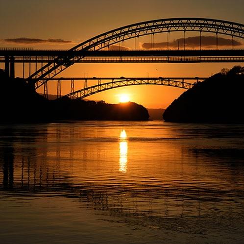 【周辺観光】西海橋(夕日)