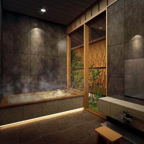 十和田石の貸切風呂