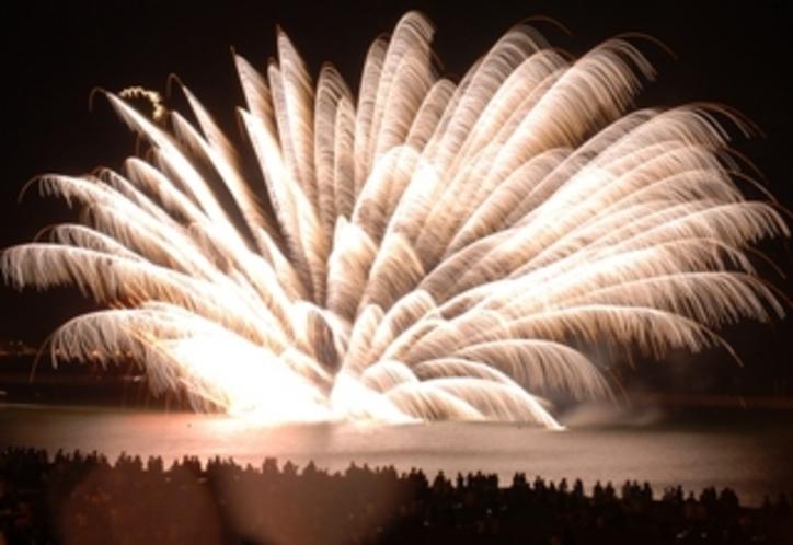西の浜の花火
