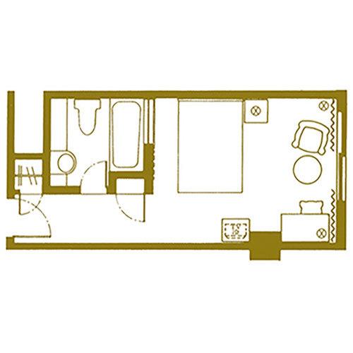 【エグゼクティブフロア】ダブルルーム<23平米/9階>