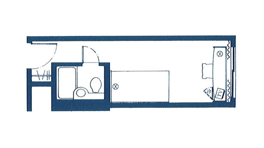 【スタンダードフロア】スタンダードシングル<16平米/5階>