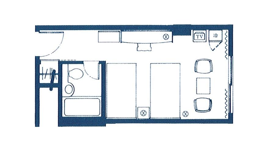 【スタンダードフロア】スタンダードツイン<23平米/4階~8階>