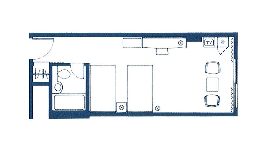 【スタンダードフロア】デラックスツイン<27平米/4階~8階>