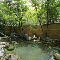 殿方用大浴場「観月」露天風呂