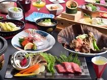 和泉荘名物の人気の2品を、ダブルで贅沢に満喫。