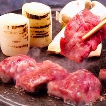 桜肉温石焼き 林檎醤油漬け