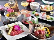 最高ランクのA5等級の特選霜降り信州牛を 3種の料理で極める、髙田料理長渾身のコース