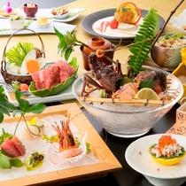 【しらら優雅】伊勢海老お好み料理を含めた会席 当日おひとり様ずつ調理法をチョイス