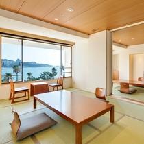 【コネクティング和+和】2つの客室が扉で区切れるオーシャンビューのお部屋タイプ(定員8名)