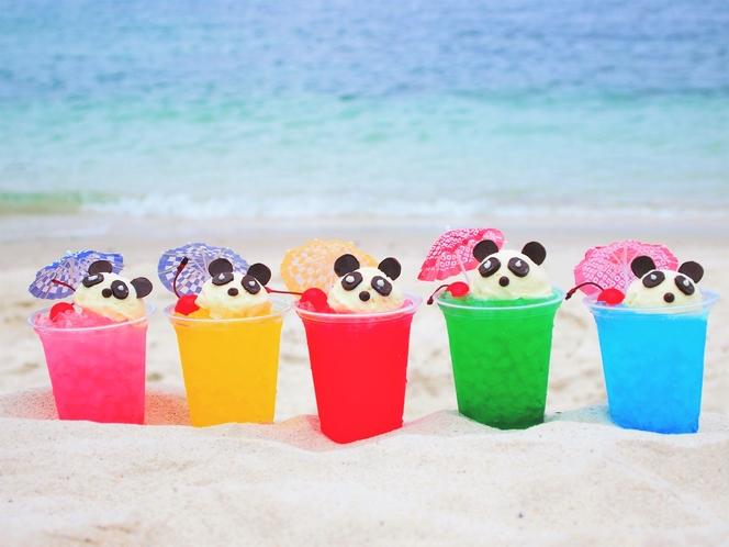 夏限定「白浜満喫フェア」5色のパンダクリームソーダ(各色1日限定10杯7/1~8/31ラウンジにて)