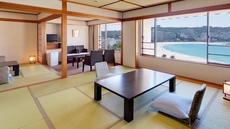 【ロイヤルフロア和室】(70平米)水平線を望む最上階。二間つづきの和室(定員5名)