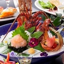 伊勢海老お好み料理:お一人様ずつ調理法をお選びいただけます