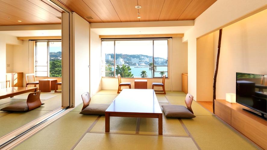 【コネクティング和+和】玄関、トイレがそれぞれあり、2つの別の客室としても(定員8名)