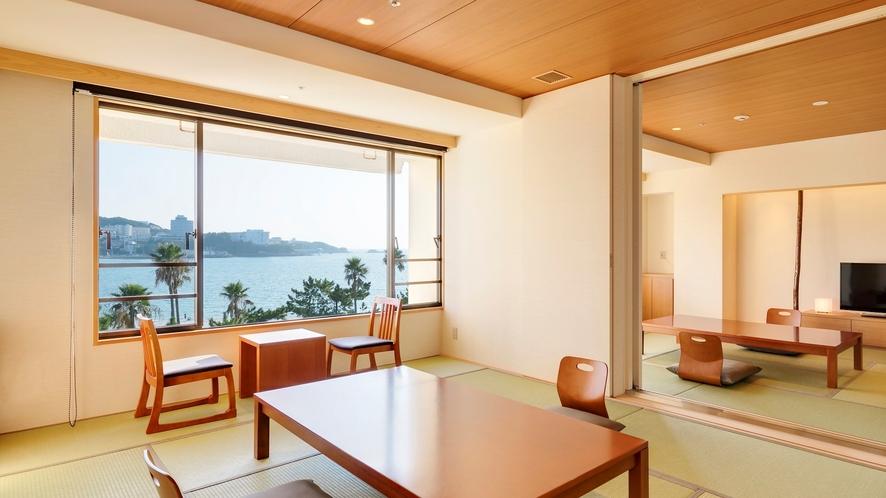 【コネクティング和+和】(10畳+10畳)2つの客室が扉で区切れるお部屋(定員8名)