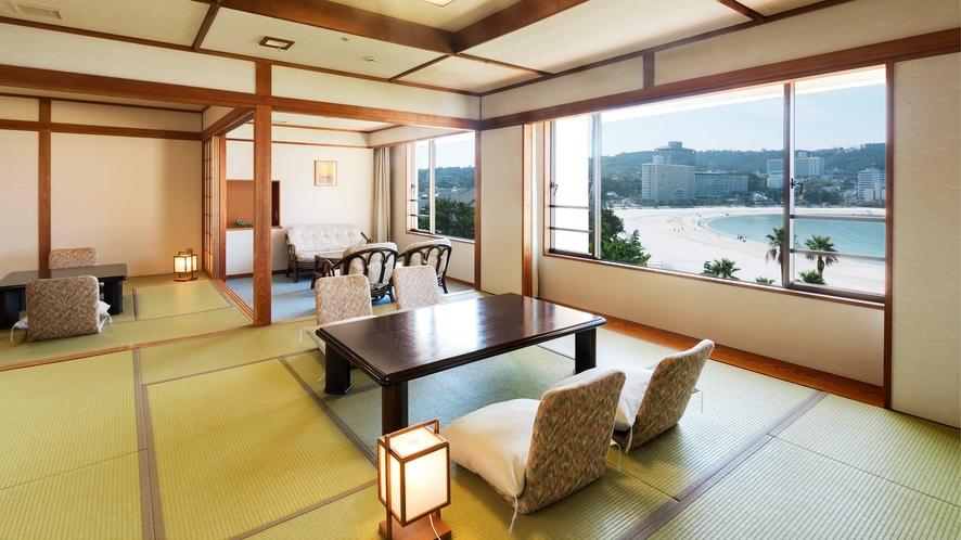 【デラックス和室】(12.5畳+8畳)総面積70平米の2間続きの和室(定員7名)