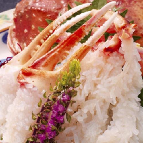 蟹刺し 生の甘みは格別
