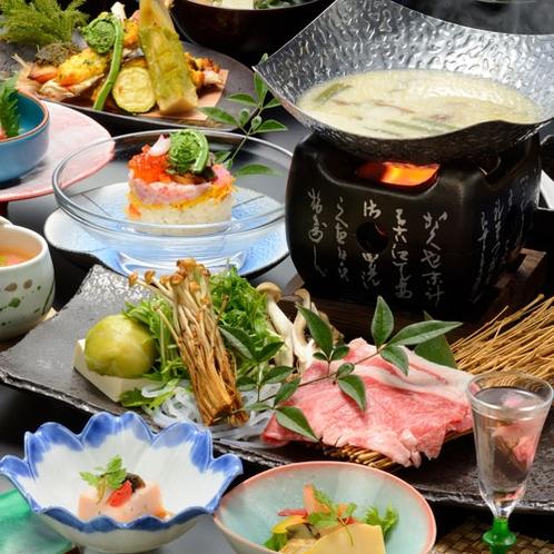 ■親方の技が光る季節の会席料理(春の一例)