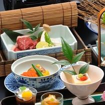 ■親方の技が光る季節の会席料理(冬の一例)