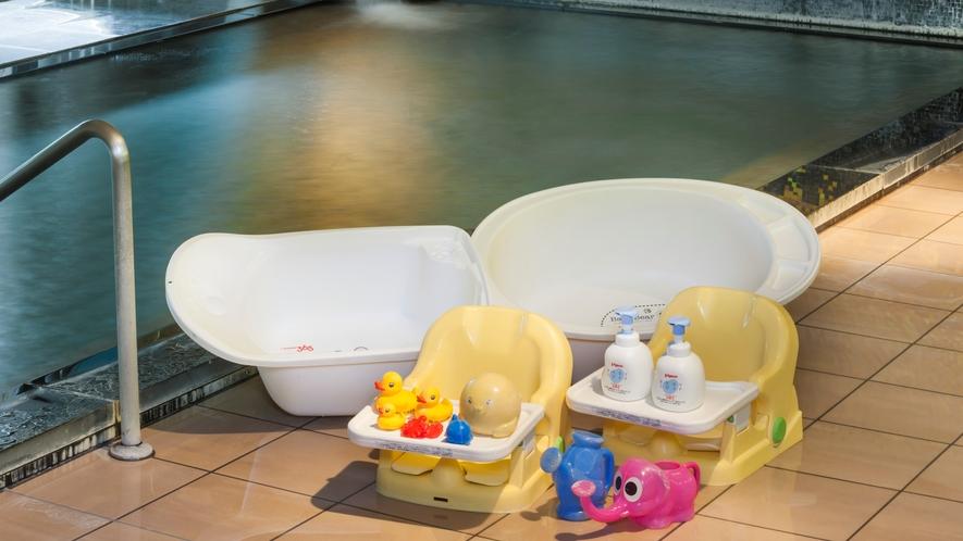 お風呂では嬉しいお子様グッズ☆お子様が飽きないように可愛いグッズをご用意しております。
