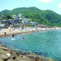 川奈イルカ浜ビーチ 無料温水シャワー有り 車で約10分です