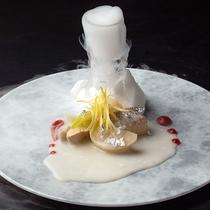 【冬の和食会席】章月スタイリッシュ~酢肴/ブリ&カブの酢の物